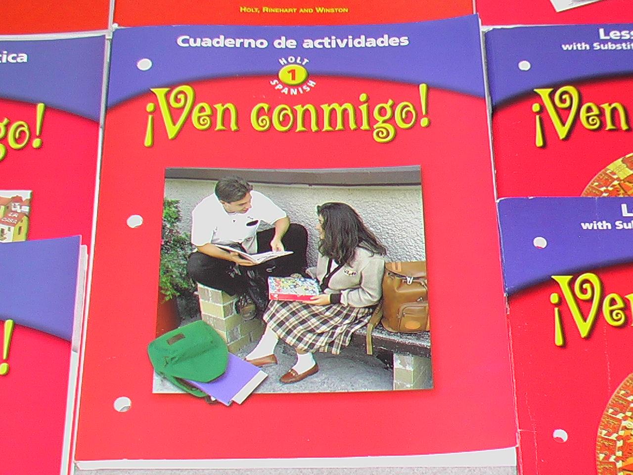 ven conmigo cuaderno de gramatica cuaderno de gramatica holt spanish level 1